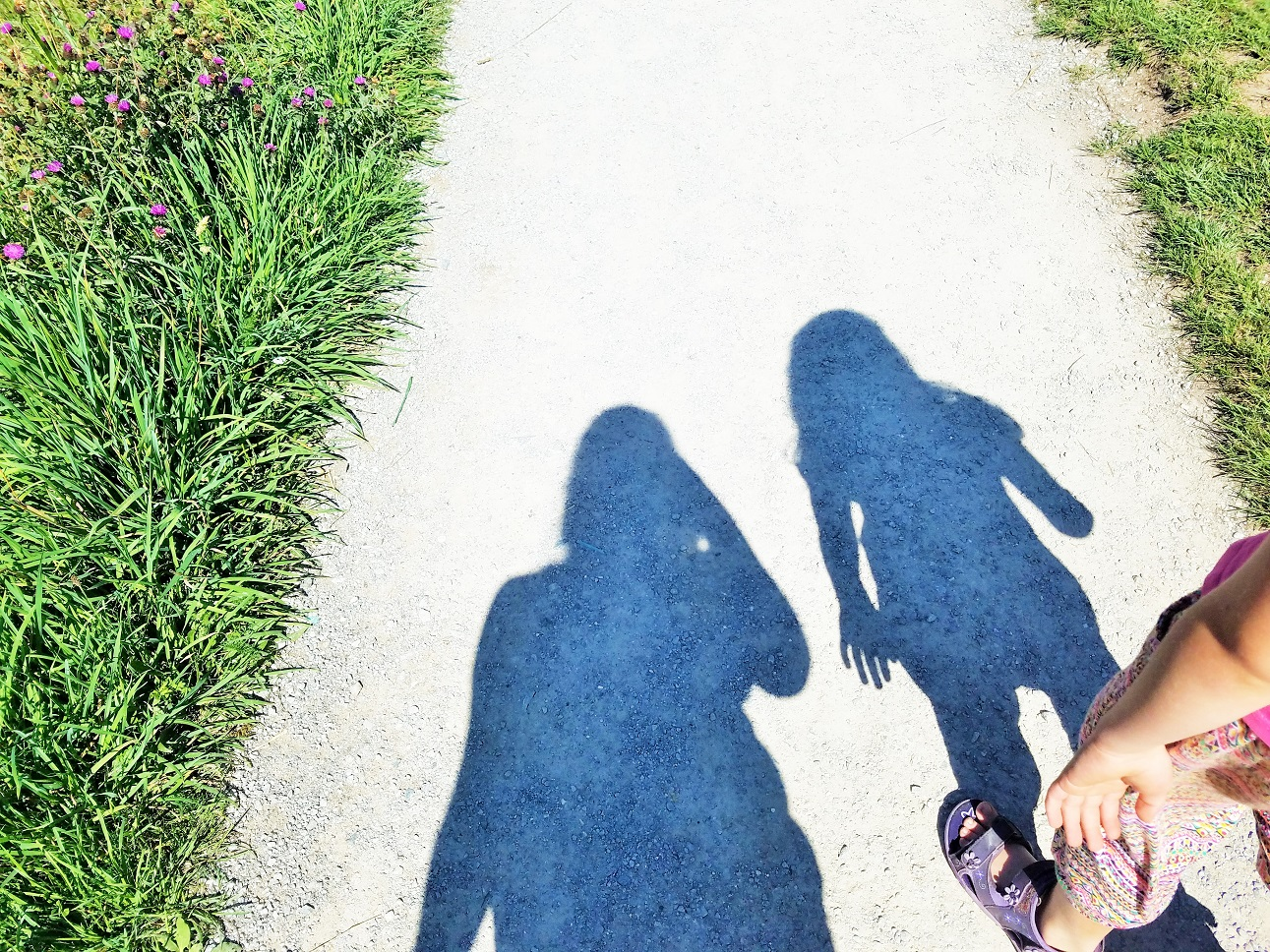 Positive attention and positive parenting - mum and child shadow