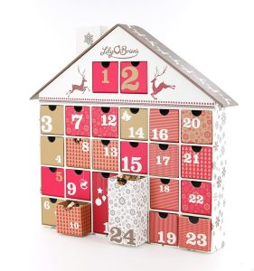 Treat her with this Christmas Gift Guide for mums - Lily O'Brien's reusable advent calendar with full size chocolates
