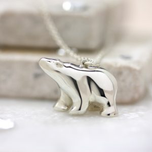 Christmas gift ideas to treat - Sterling Silver Polar Bear Necklace