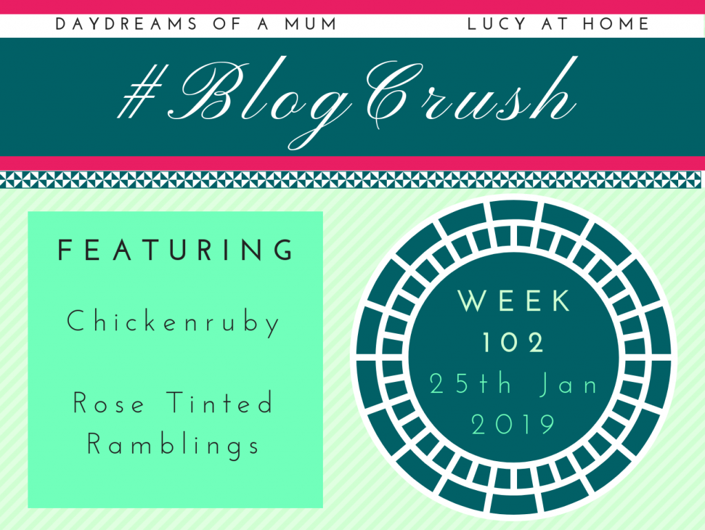 BlogCrush Week 102 – 25th January 2019