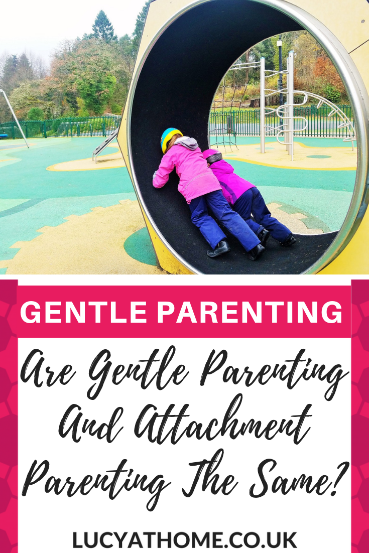 Are Gentle Parenting And Attachment Parenting The Same - if you want to know the difference between gentle parenting and attachment parenting then this is the post for you. There is a clear definition of each parenting style and an explanation of attachment theory, plus how the two parenting styles link together #gentleparenting #attachmentparenting