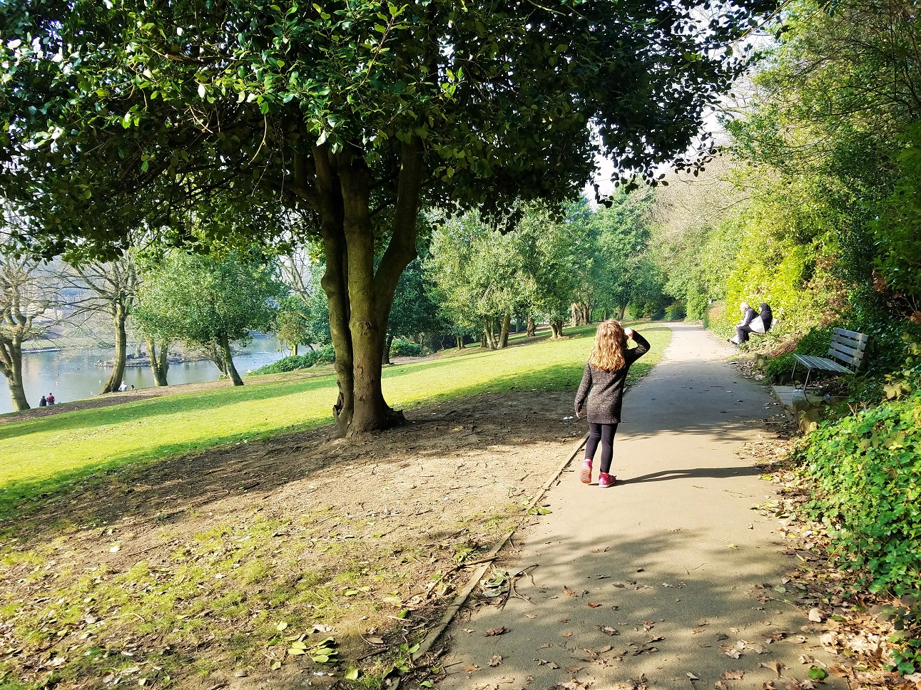 caring makes wimpy kids and other parenting myths child walking by a lake