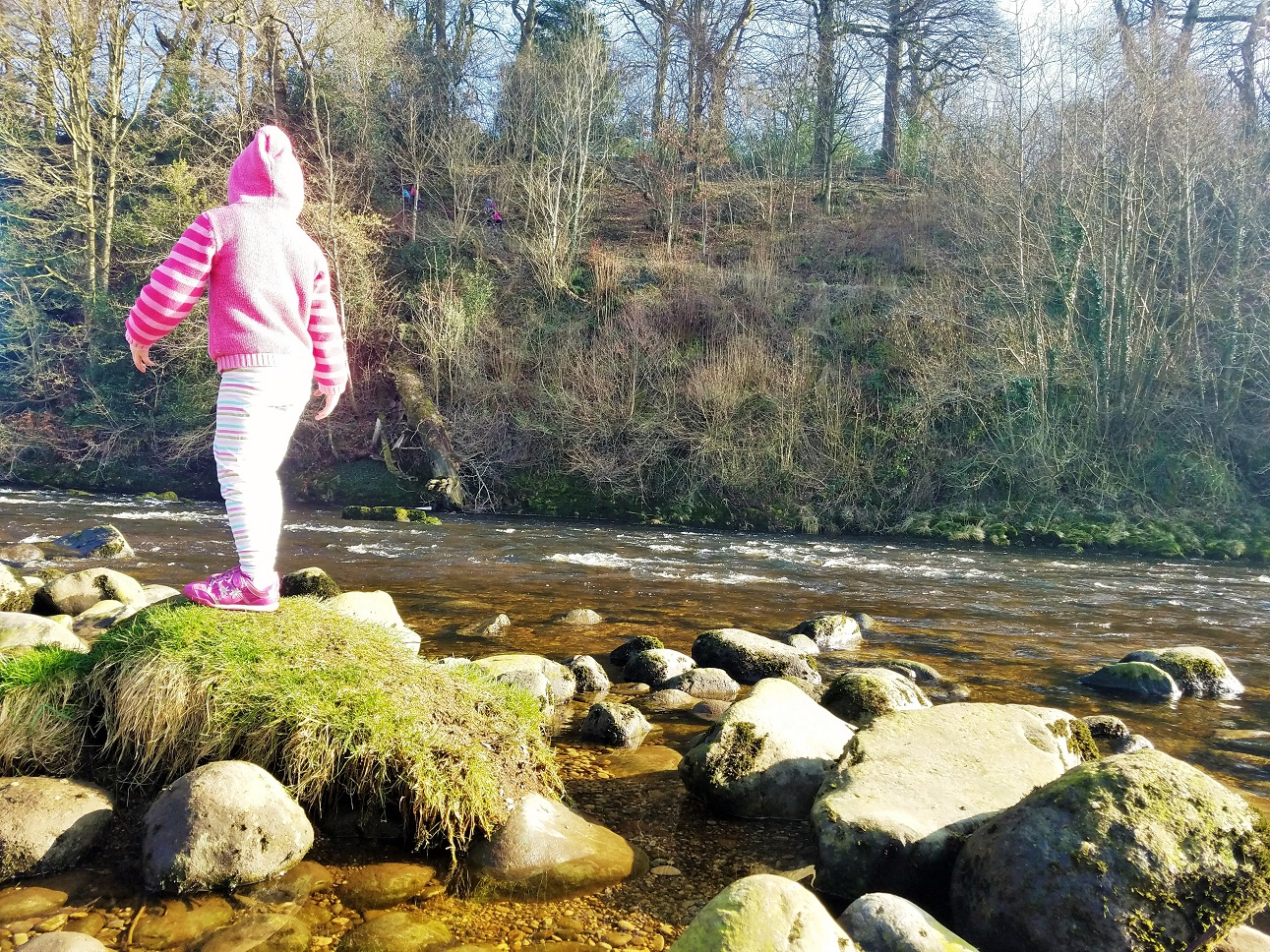 mental health and mental illness immunity child climbing on rocks in a river