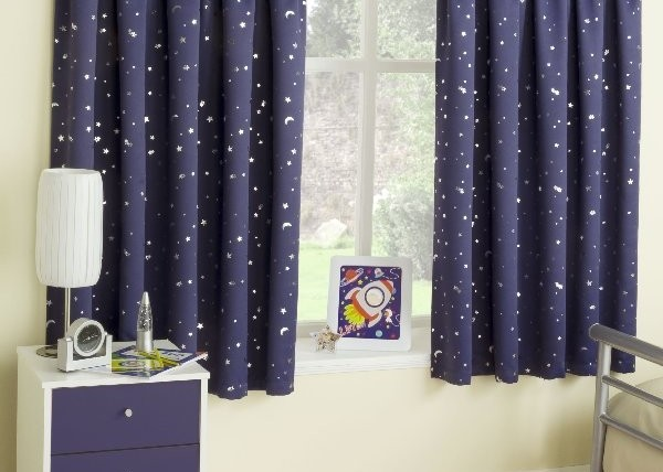 Yorkshire Linen Company moonlight design blackout curtains